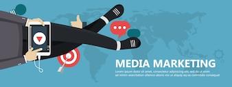 Conceito de marketing de mídia