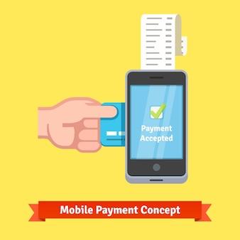 Conceito de pagamento móvel