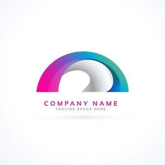 Conceito do logotipo forma abstrata