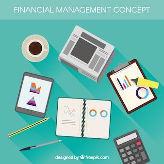 Conceito financeiro plano com elementos clássicos