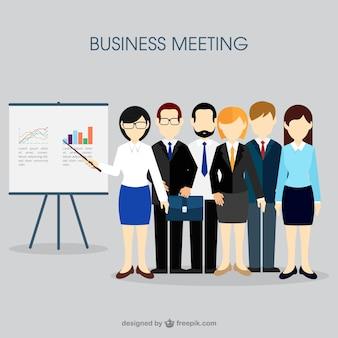 Conceito reunião de negócios