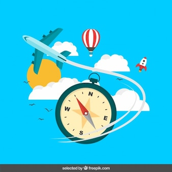 Conceitos de viagens ilustração