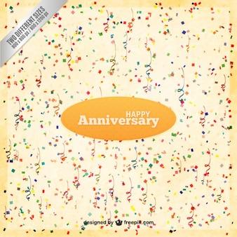 Confetti anniversary feliz