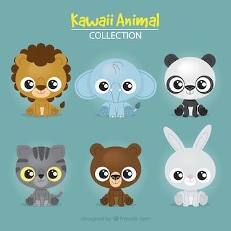 Conjunto de adoráveis animais