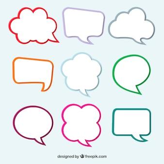 Conjunto de balões de diálogo