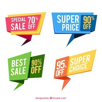 Conjunto de banners de venda especiais