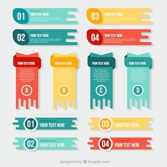 Conjunto de banners úteis para infográficos