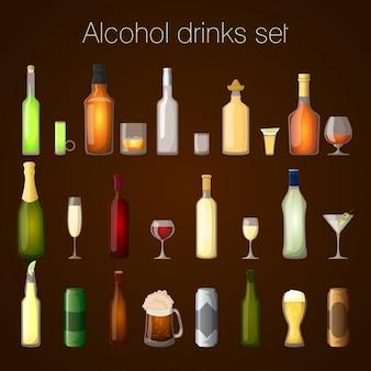 Conjunto de bebidas alcoólicas