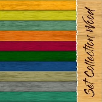 Conjunto de coleta de textura de madeira