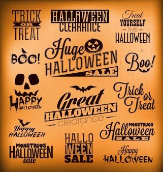 Conjunto de design de Halloween