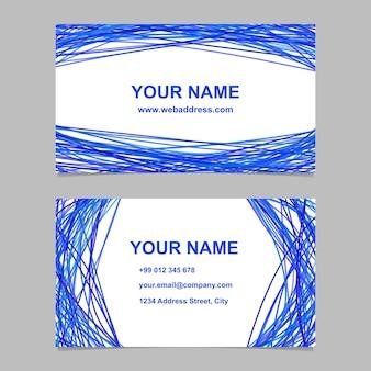 Conjunto de design de modelo de cartão de visita abstrato - ilustração de cartão de identidade vetorial com linhas curvas