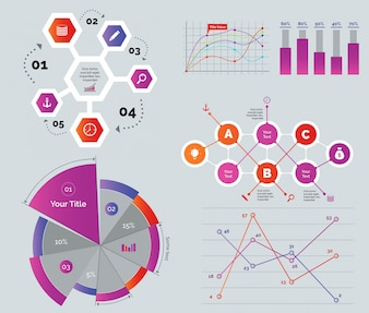 Conjunto de diagramas criativos