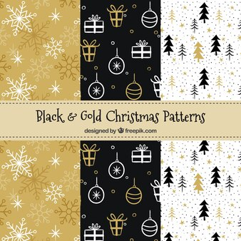 Conjunto de elegantes padrões de Natal