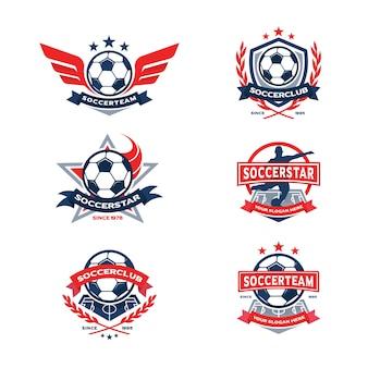 Conjunto de emblemas do clube de futebol, emblema da equipe de futebol