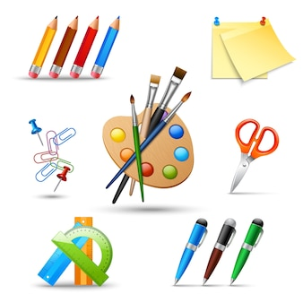 Conjunto de ferramentas de pintura