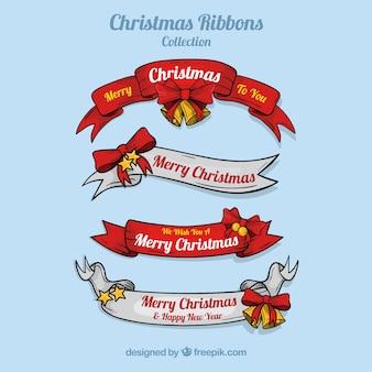 Conjunto de fitas de Natal desenhadas à mão