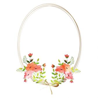 Conjunto de flores de aguarela. Coleção floral colorida com folhas e flores. Design de primavera ou verão para cartões de convite, casamento ou de saudação.