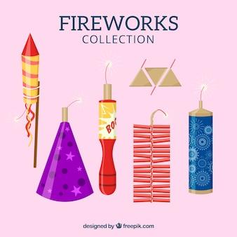 Conjunto de fogos de artifício