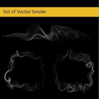 Conjunto de fumaça vetorial abstrata