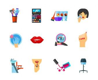 Conjunto de ícones de beleza