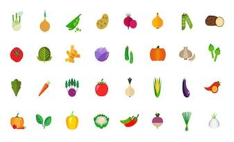 Conjunto de ícones de colheita