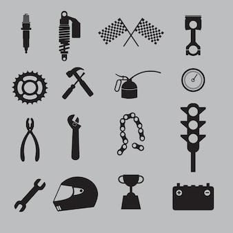 Conjunto de ícones de corrida automática.