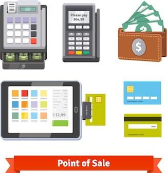 Conjunto de ícones de pagamento