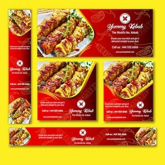 Conjunto de Kebab Banner