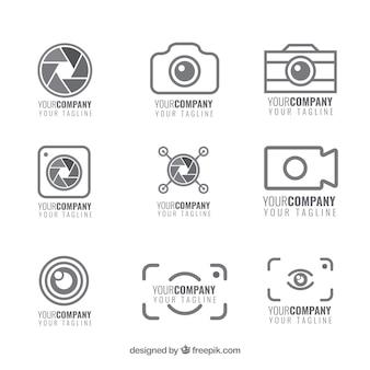 Conjunto de logotipos da câmera