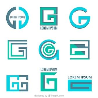 "Conjunto de logotipos de letras modernas ""g"""