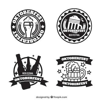 Conjunto de logotipos do festival da cerveja