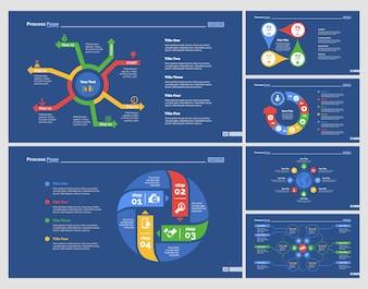 Conjunto de modelos de slide de seis modelos de estratégia