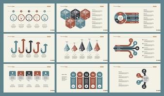 Conjunto de Modelos de Slide Infográficos
