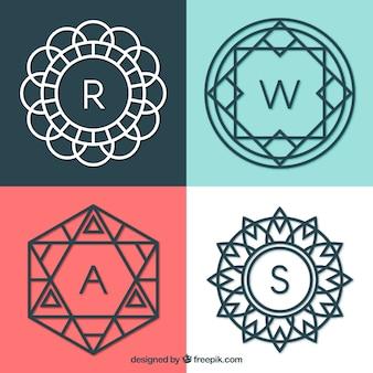 Conjunto de monogramas geométricos
