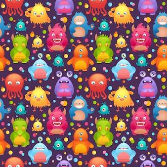 Conjunto de monstros bonitos