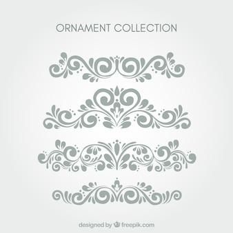 Conjunto de ornamentos clássicos