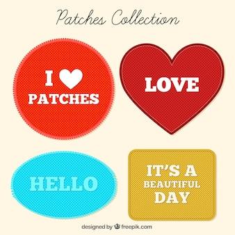 Conjunto de patches decorativos