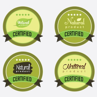 Conjunto de produtos orgânicos naturais