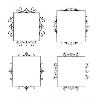Conjunto de quadros caligráficos