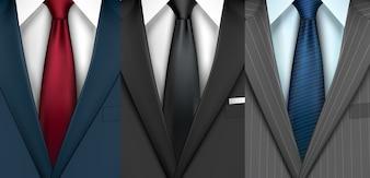 Conjunto de roupas de homem de negócios