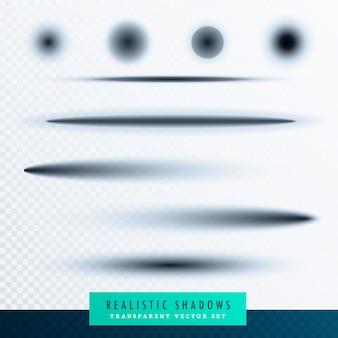Conjunto de sombras transparentes oval com bordas suaves pode ser usado como divisores