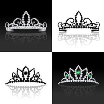 Conjunto de tiara isolado
