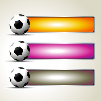 Conjunto de vetores de design de futebol