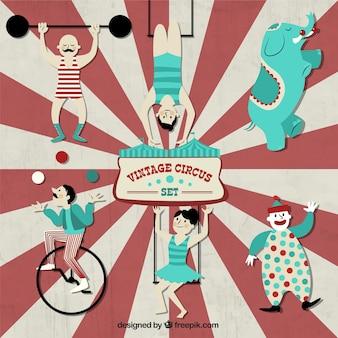 Conjunto do circo do vintage