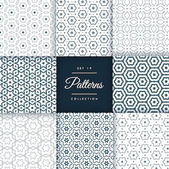 Conjunto elegante de design de coleção de padrões de linha