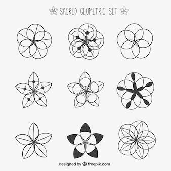 Conjunto geométrica sagrada