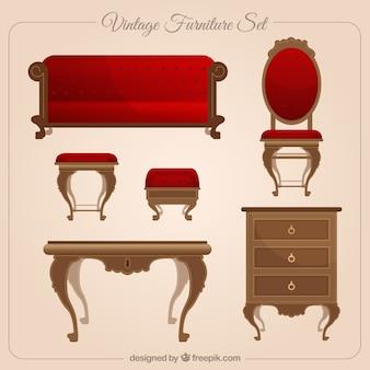 conjunto mobiliário vintage