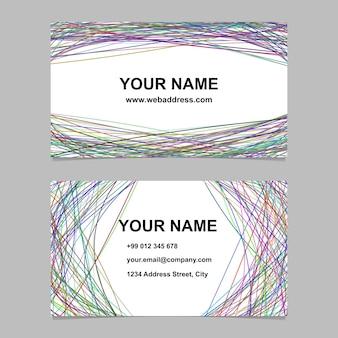 Conjunto moderno de modelos de cartões de visita - design corporativo vetorial com listras arqueadas