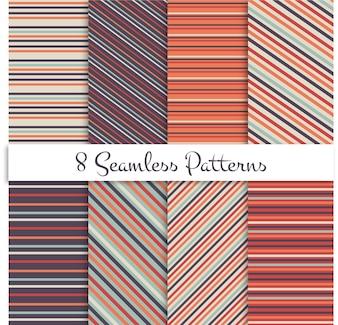 Conjuntos de padrões retros lisos com padrões