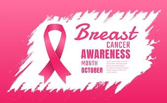 Consciência do cancro da mama fundo do vetor
